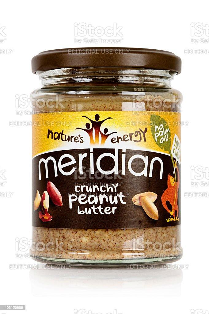Meridian Crunchy Peanut Butter stock photo
