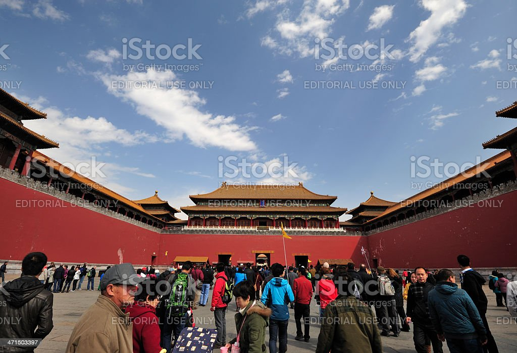 Meridian Gate, The Forbidden City royalty-free stock photo