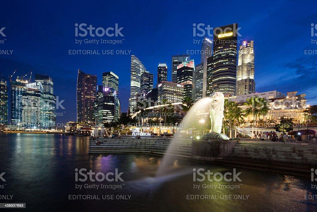 Merilon Statue, Singapore royalty-free stock photo
