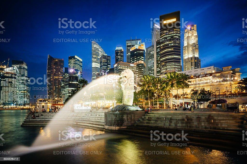 Merilon Statue, Singapore stock photo