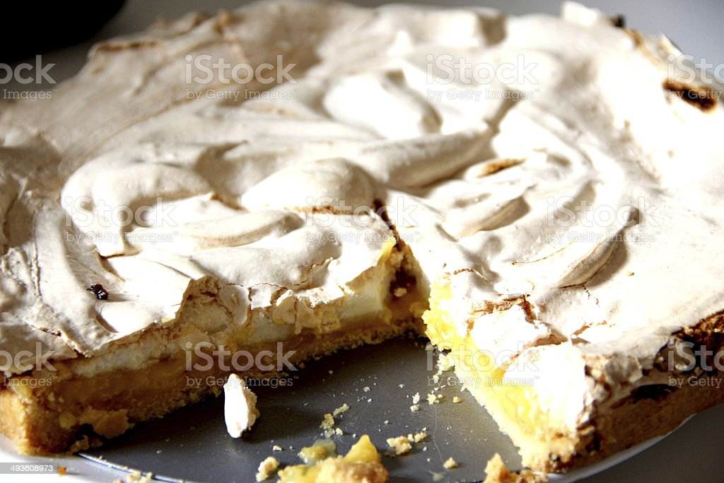 Meringue Cake stock photo