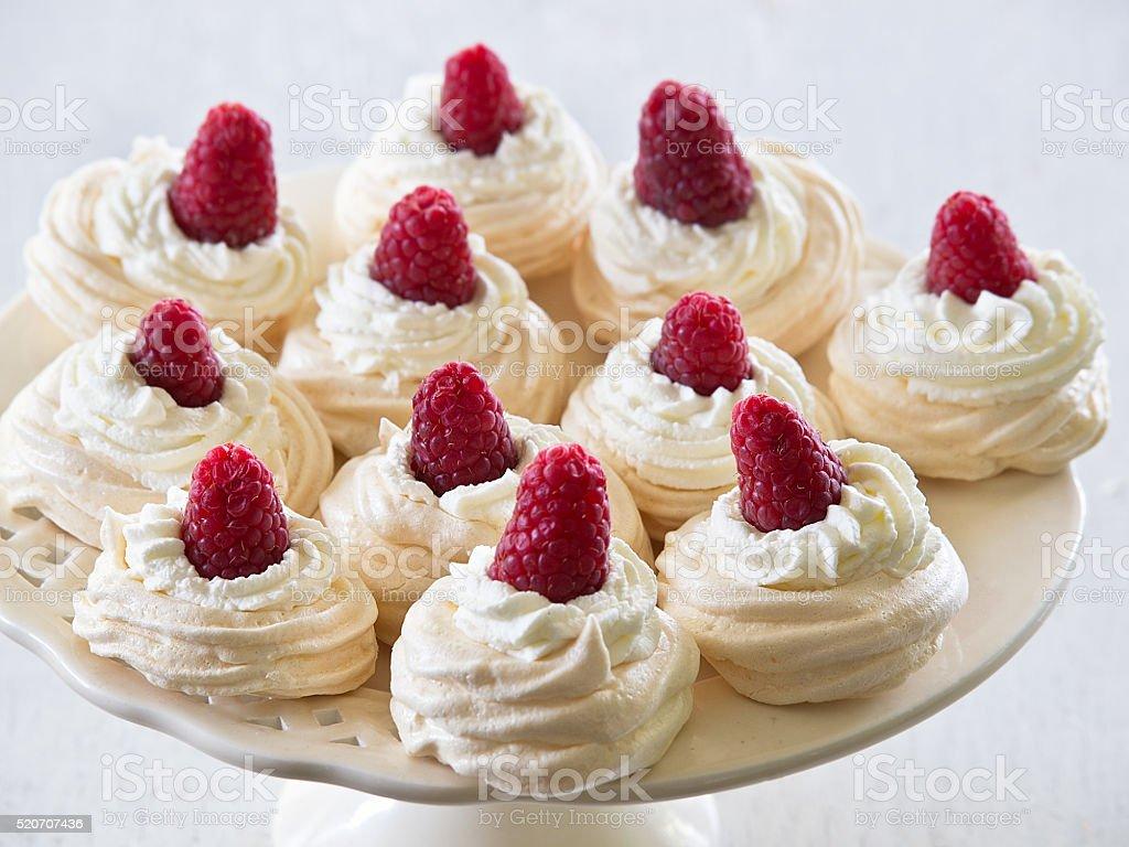Meringue cakes Pavlova royalty-free stock photo