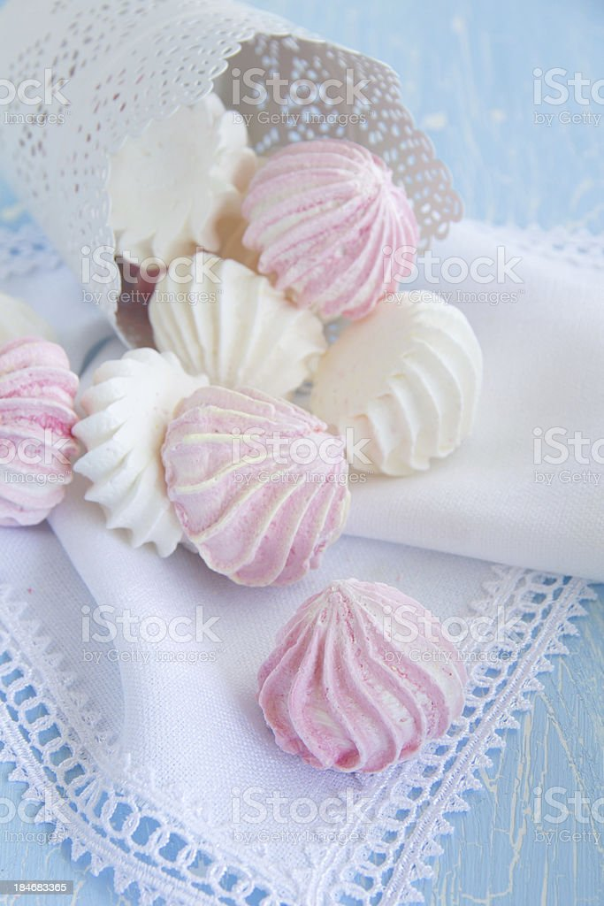 Meringue Cookie Closeup royalty-free stock photo