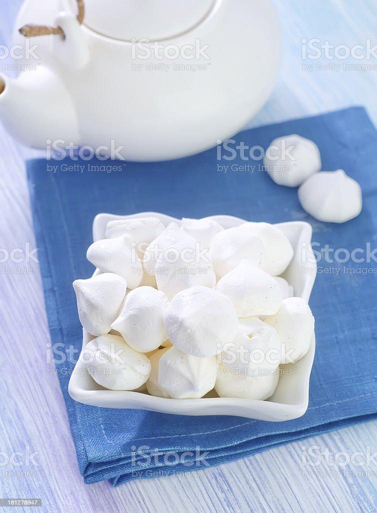meringue stock photo