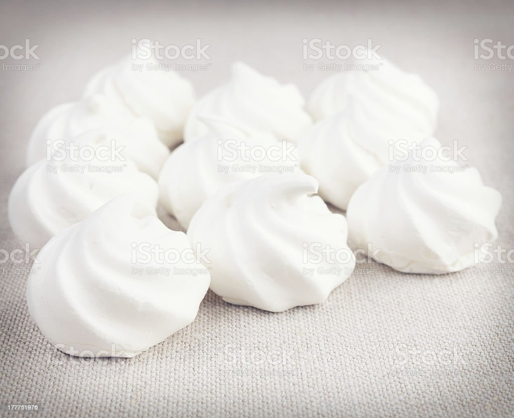 Meringue shells stock photo