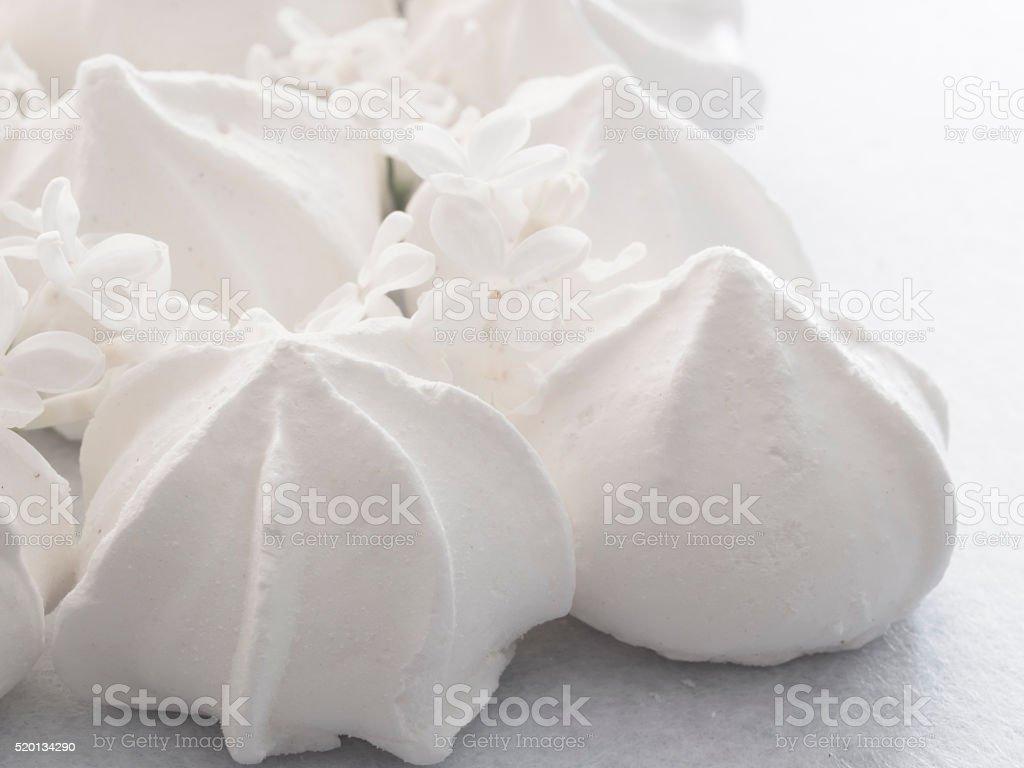 meringues stock photo