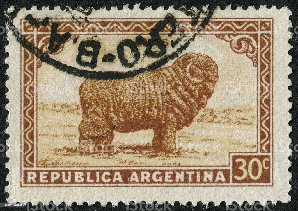Merino Sheep Stamp stock photo