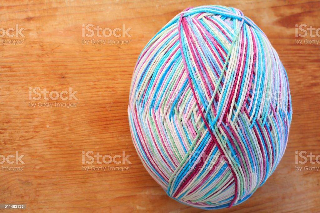 Merino variegated wool stock photo