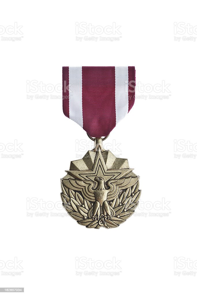 Meritorious Service Medal royalty-free stock photo