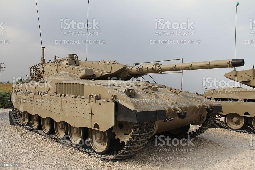 Merkava Mk II tank stock photo