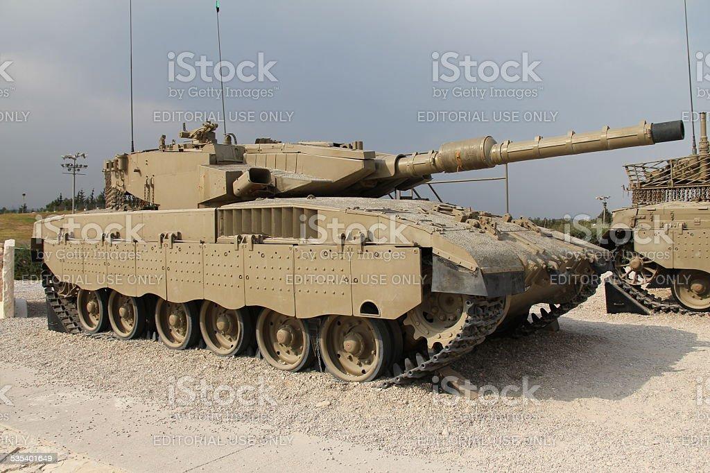 Merkava Mk III tank stock photo