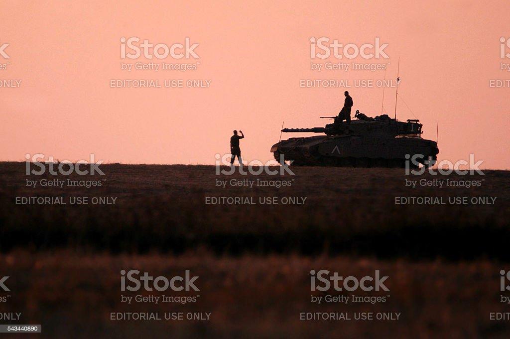 IDF - Merkava Tank stock photo