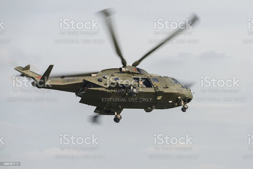 Merlin Helicopter stock photo