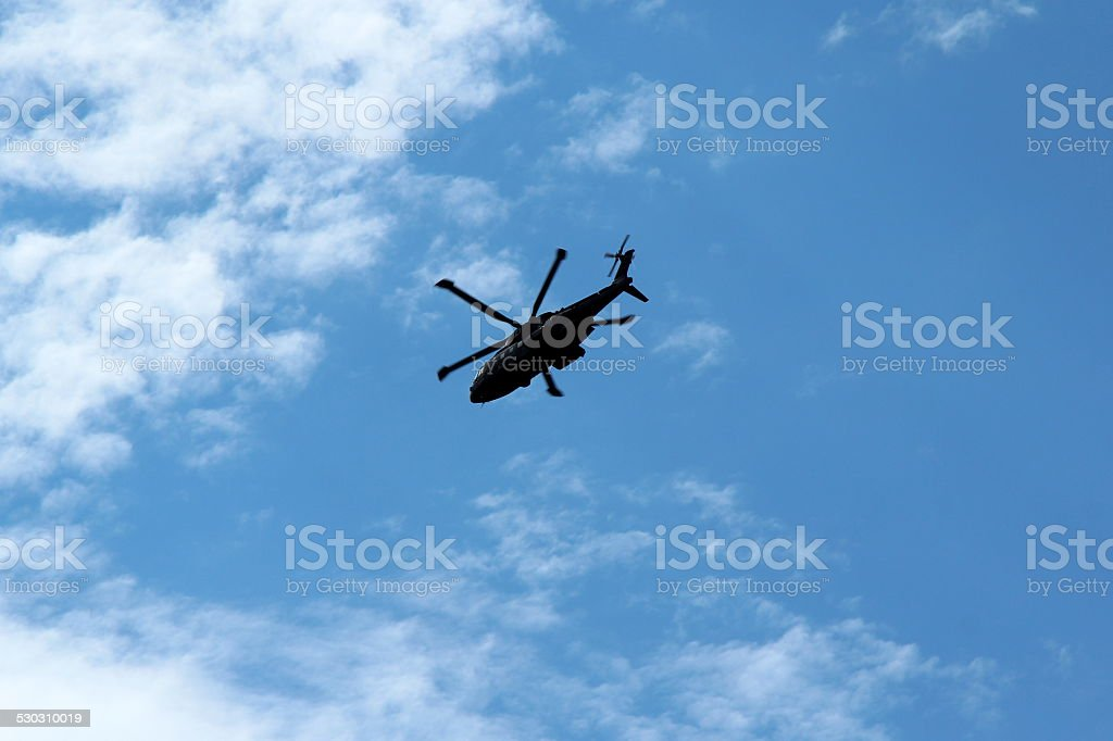 Merlin Helicopter Silhouette stock photo