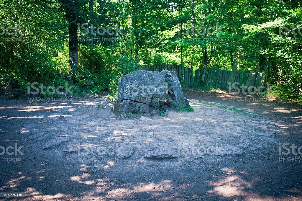 Merlino's grave stock photo