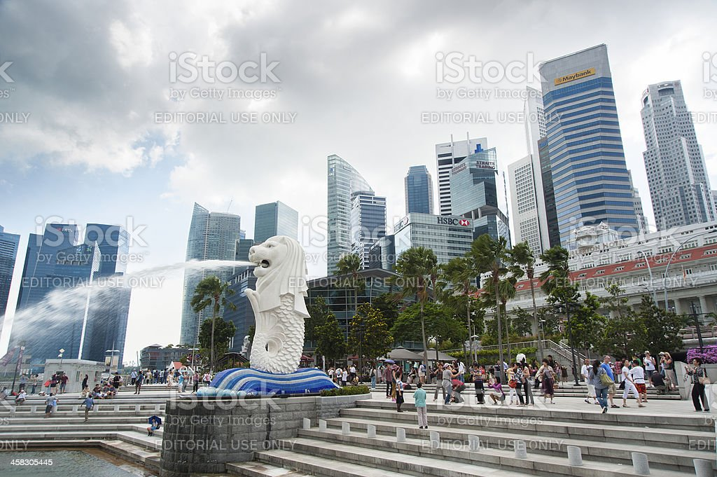 Merlion park in Singapore royalty-free stock photo