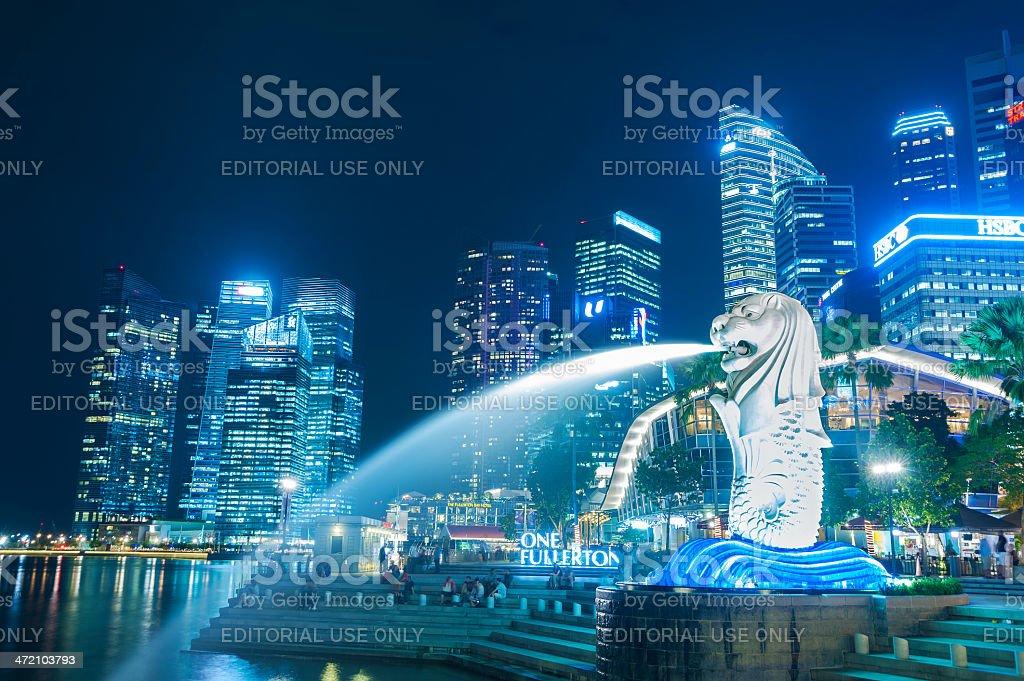Merlion park in Singapore stock photo