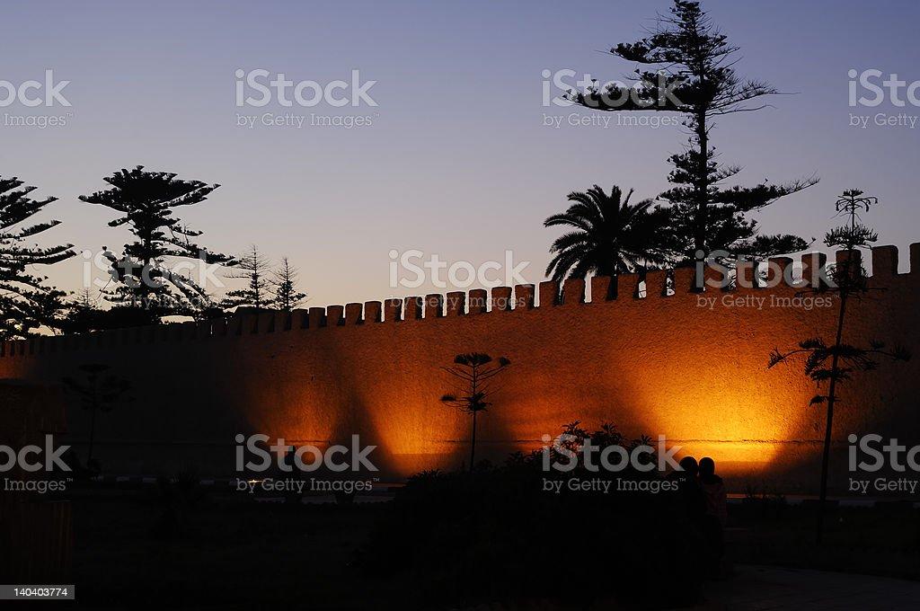 merlon wall royalty-free stock photo