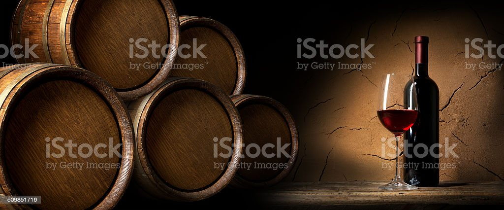 Merlot near wall stock photo