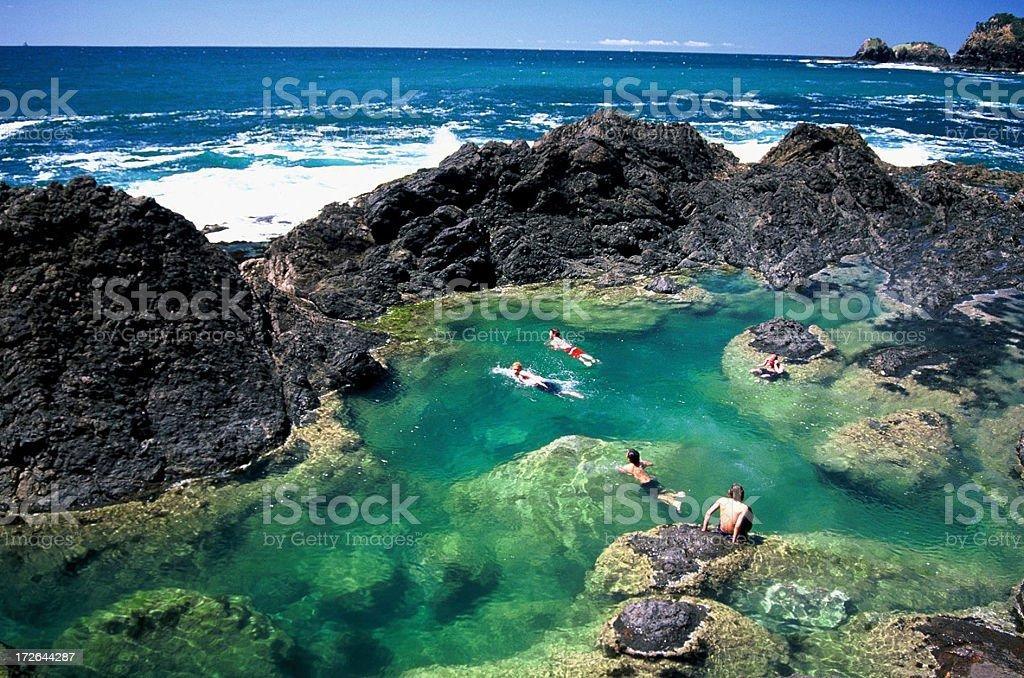 Mermaid pools stock photo