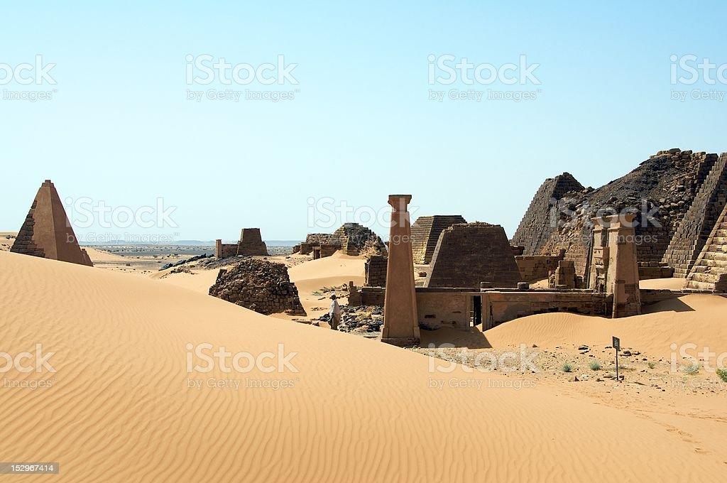 Meroe architectural site - Sudan stock photo