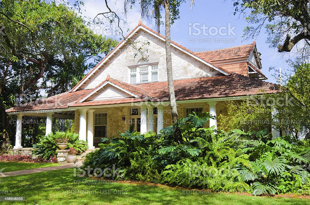 Merrick House in Coral Gables, FL stock photo