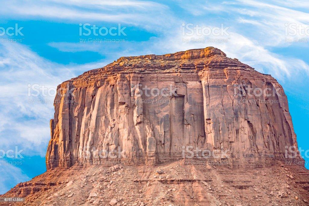Merrik butte in monument valley stock photo