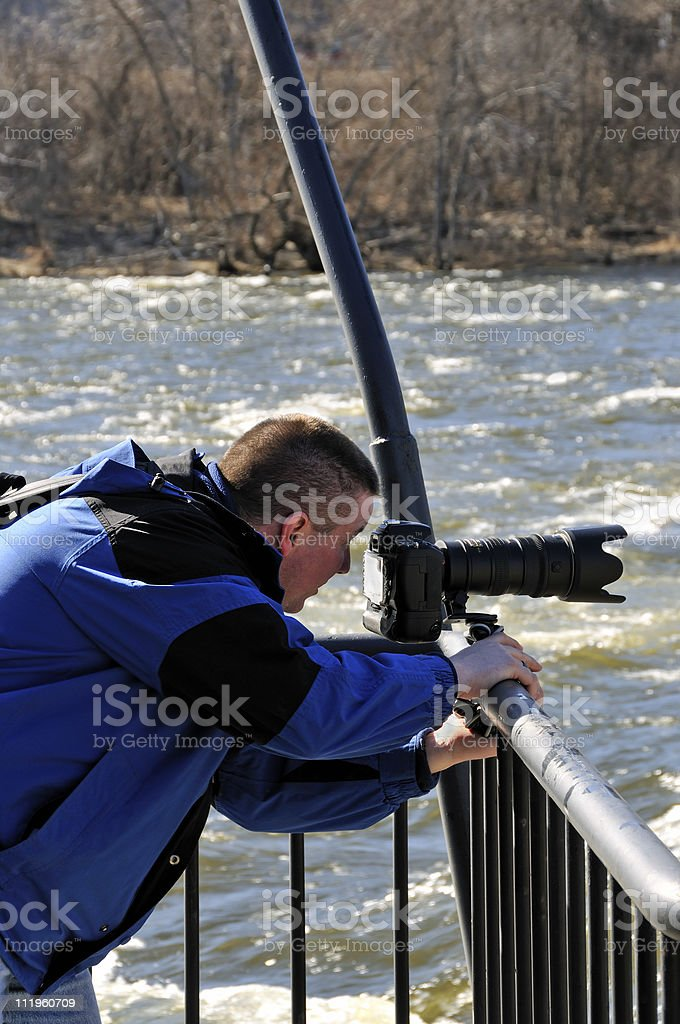 Merrimack River Photographer stock photo