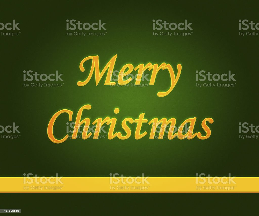 Merrry Christmas Gold Letters royalty-free stock photo