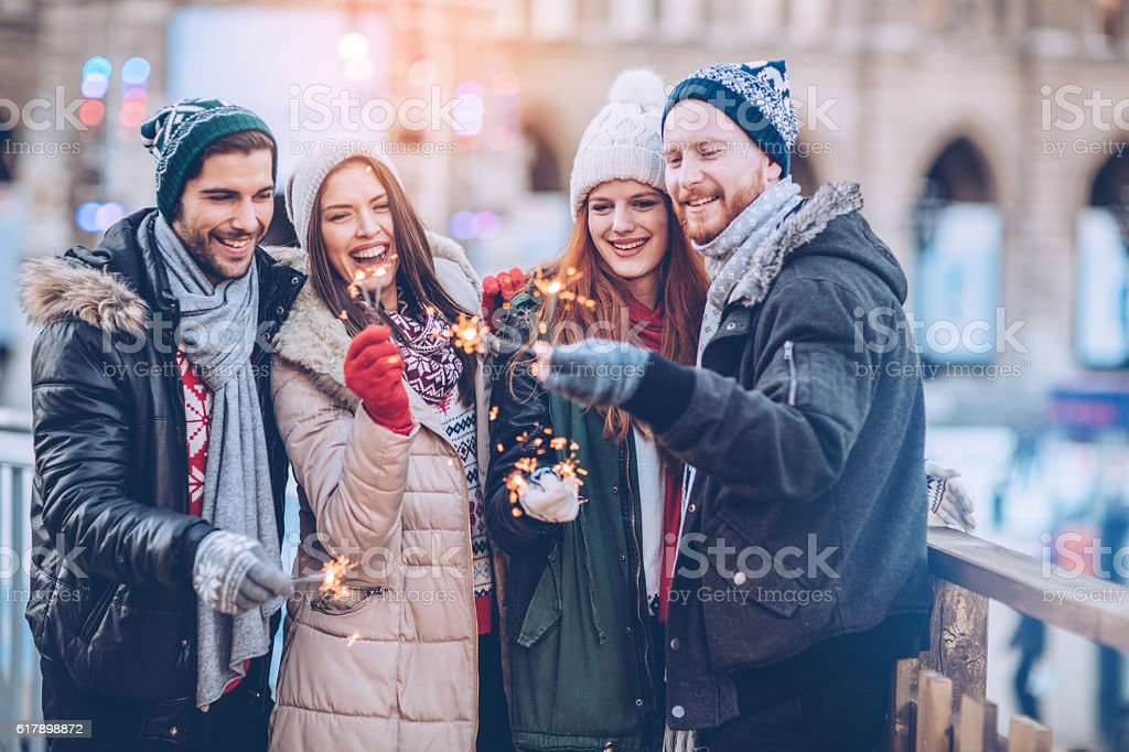 Merry and bright stock photo