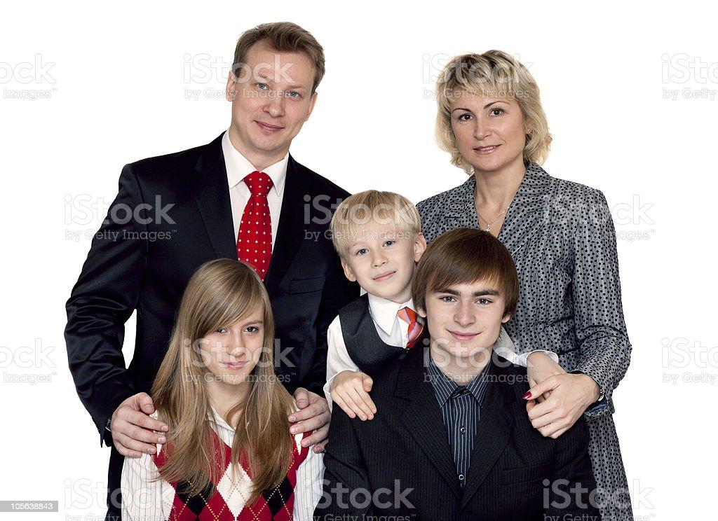 Merry big family portrait royalty-free stock photo