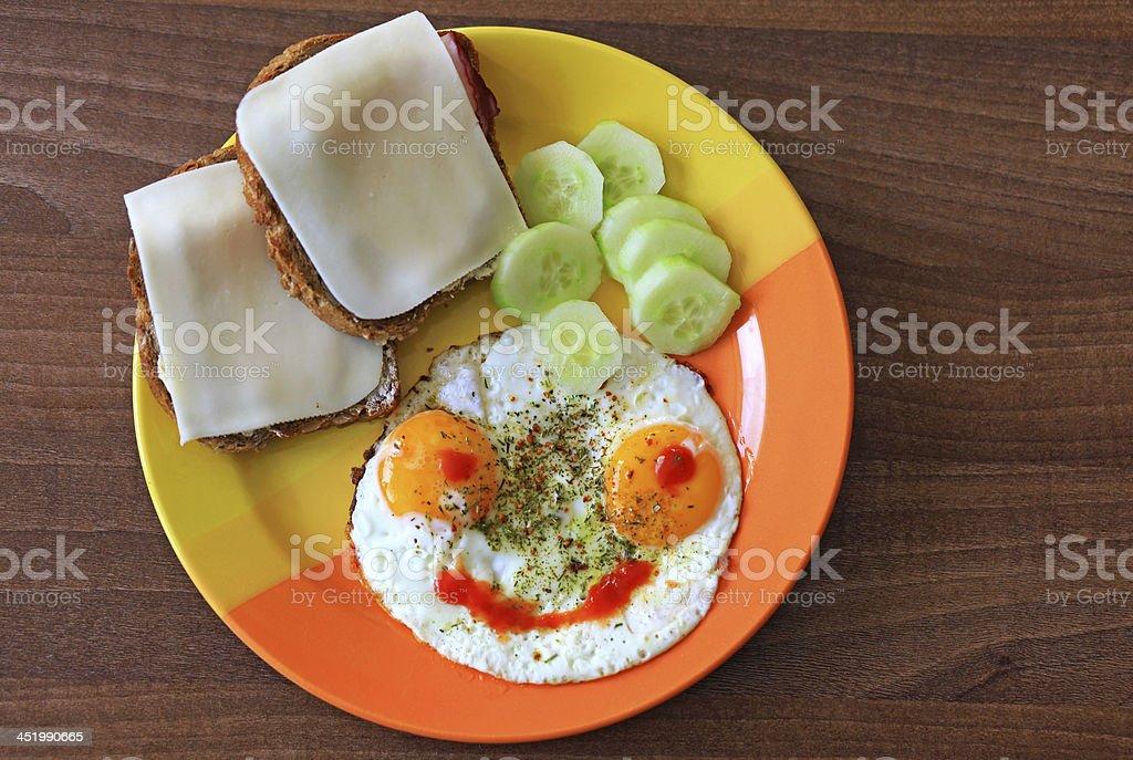 Merry breakfast stock photo