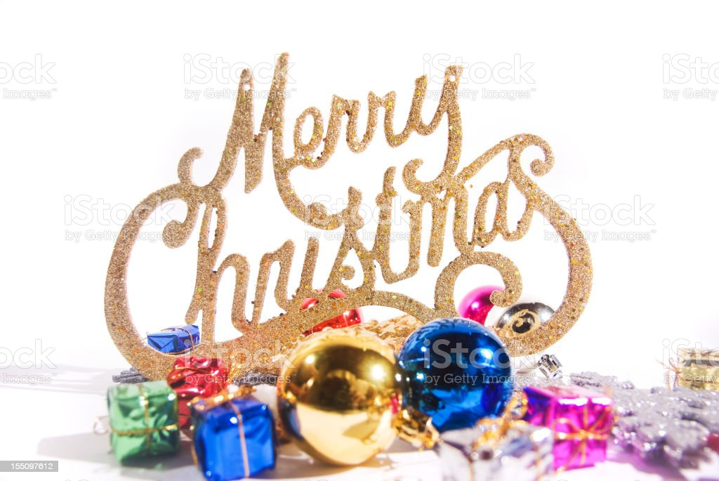 merry chrismas message stock photo