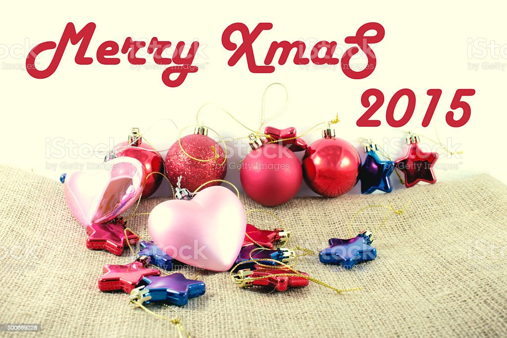 Merry Christmas 2015. royalty-free stock photo