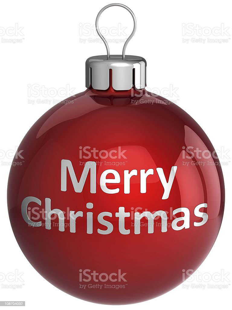 Merry Christmas ball Xmas bauble traditional decoration royalty-free stock photo