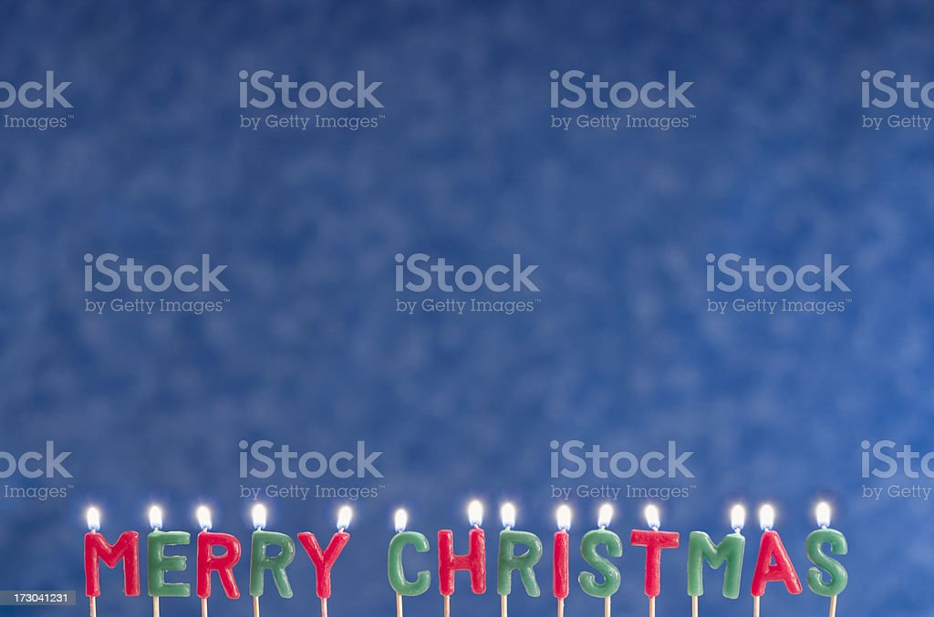 Merry Christmas Candles royalty-free stock photo