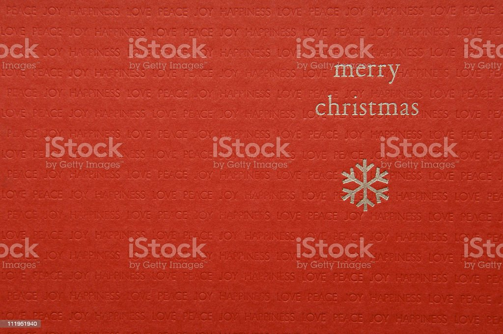 Merry Christmas Card royalty-free stock photo