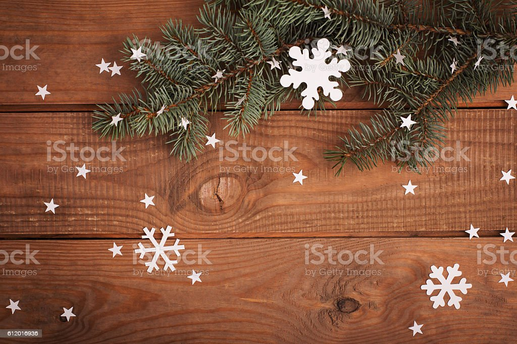 Merry Christmas cards decorations in paper cutting style hanging stock photo