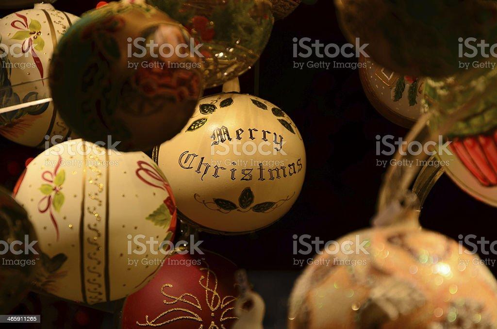 Merry Christmas, Christmas-tree decoration, stock photo