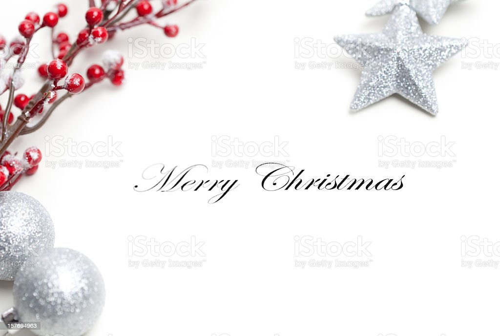 A merry christmas greeting card design royalty-free stock photo