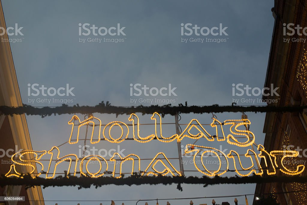 Merry Christmas in Irish, Dublin, Ireland. stock photo