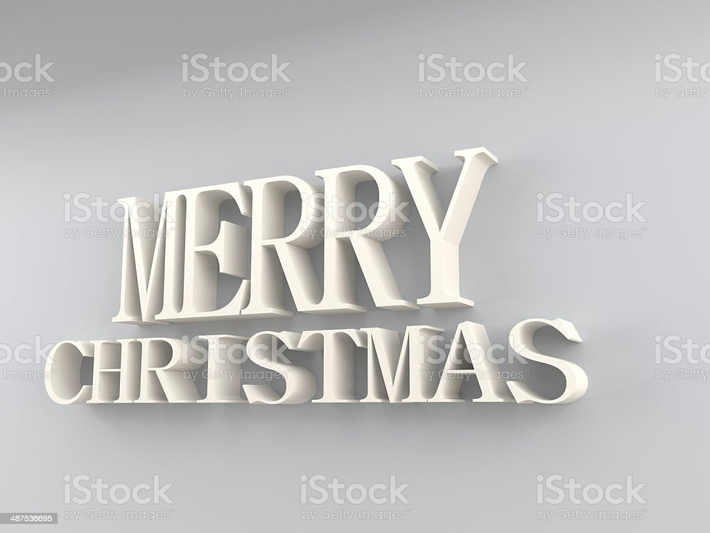 merry christmas in white stock photo