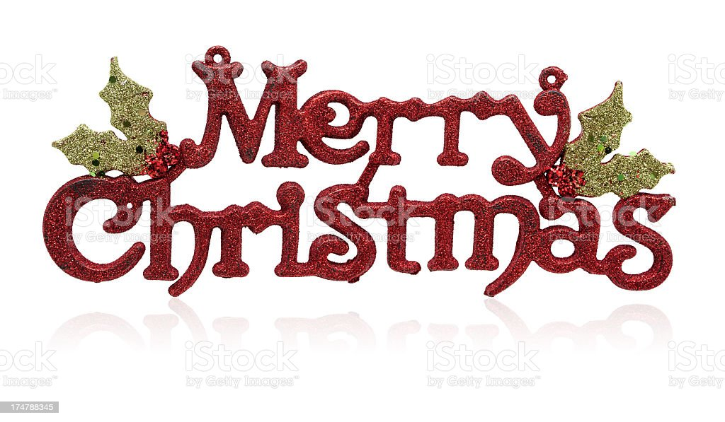 Merry Christmas (clipping path! XXXL) isolated on white royalty-free stock photo