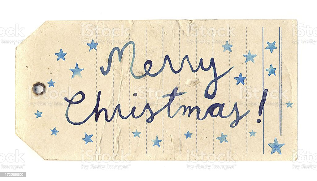 Merry christmas label royalty-free stock photo