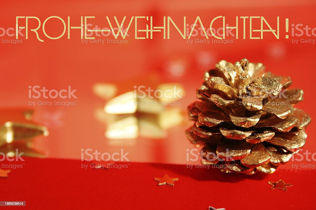 Frohe Weihnachten - Merry Christmas in german royalty-free stock photo