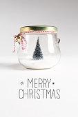 Merry Christmas message with Christmas tree