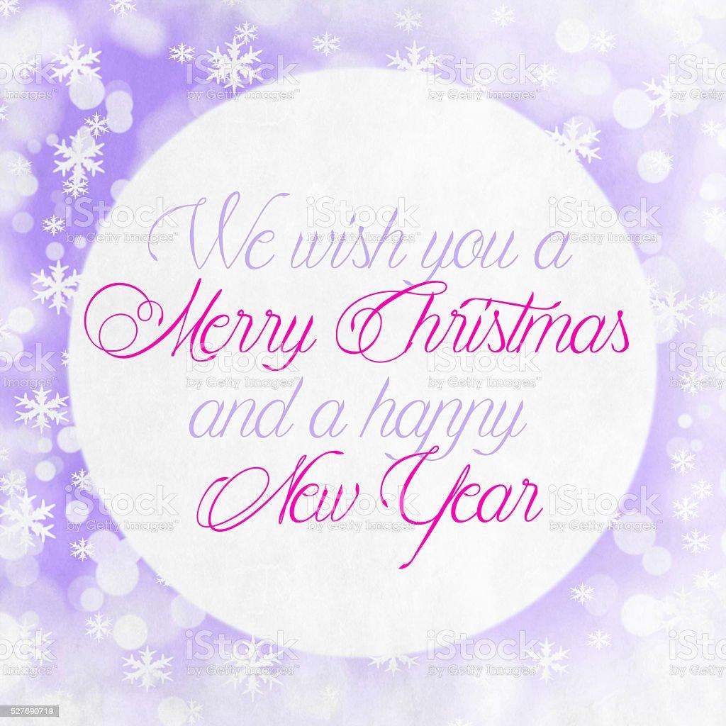Merry Christmas Season Greetings Quote stock photo