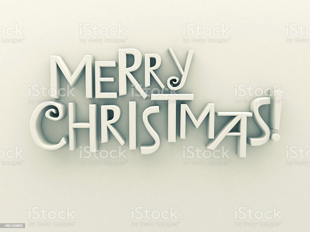 Merry Christmas text isolated stock photo
