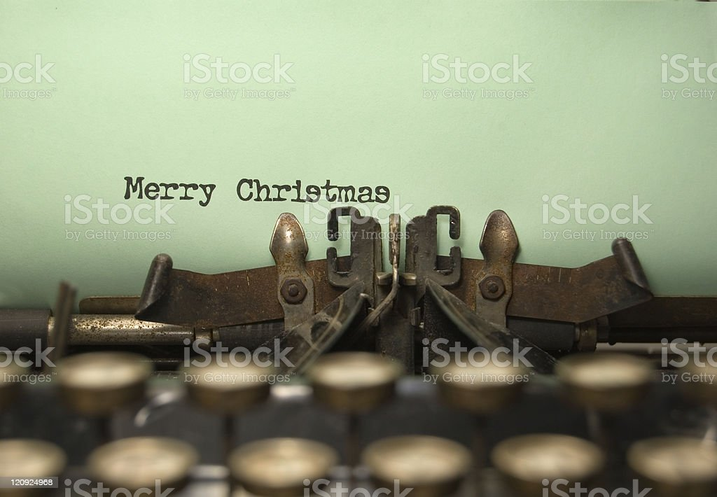Merry Christmas - Vintage Style royalty-free stock photo