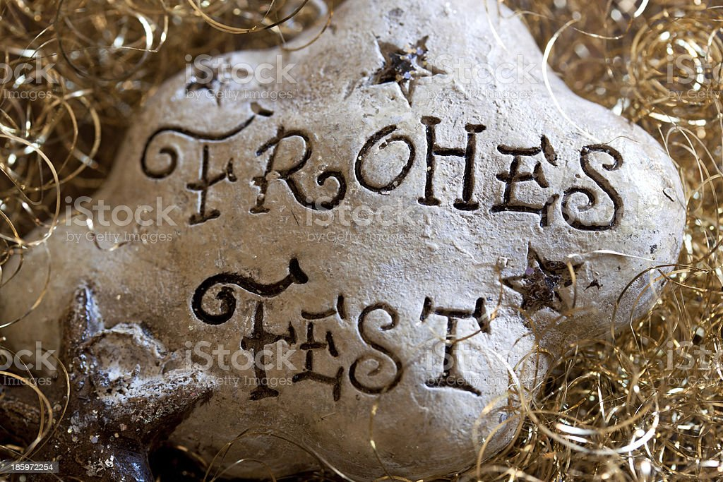 frohes fest stock photo